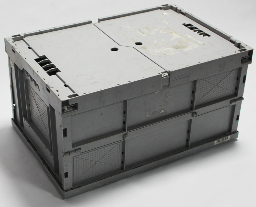 klappbox 60x40x32 hellgrau mit deckel ebay. Black Bedroom Furniture Sets. Home Design Ideas