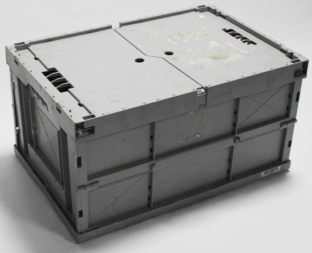 ** Klappbox 60x40x32 hellgrau, mit Deckel ** | eBay